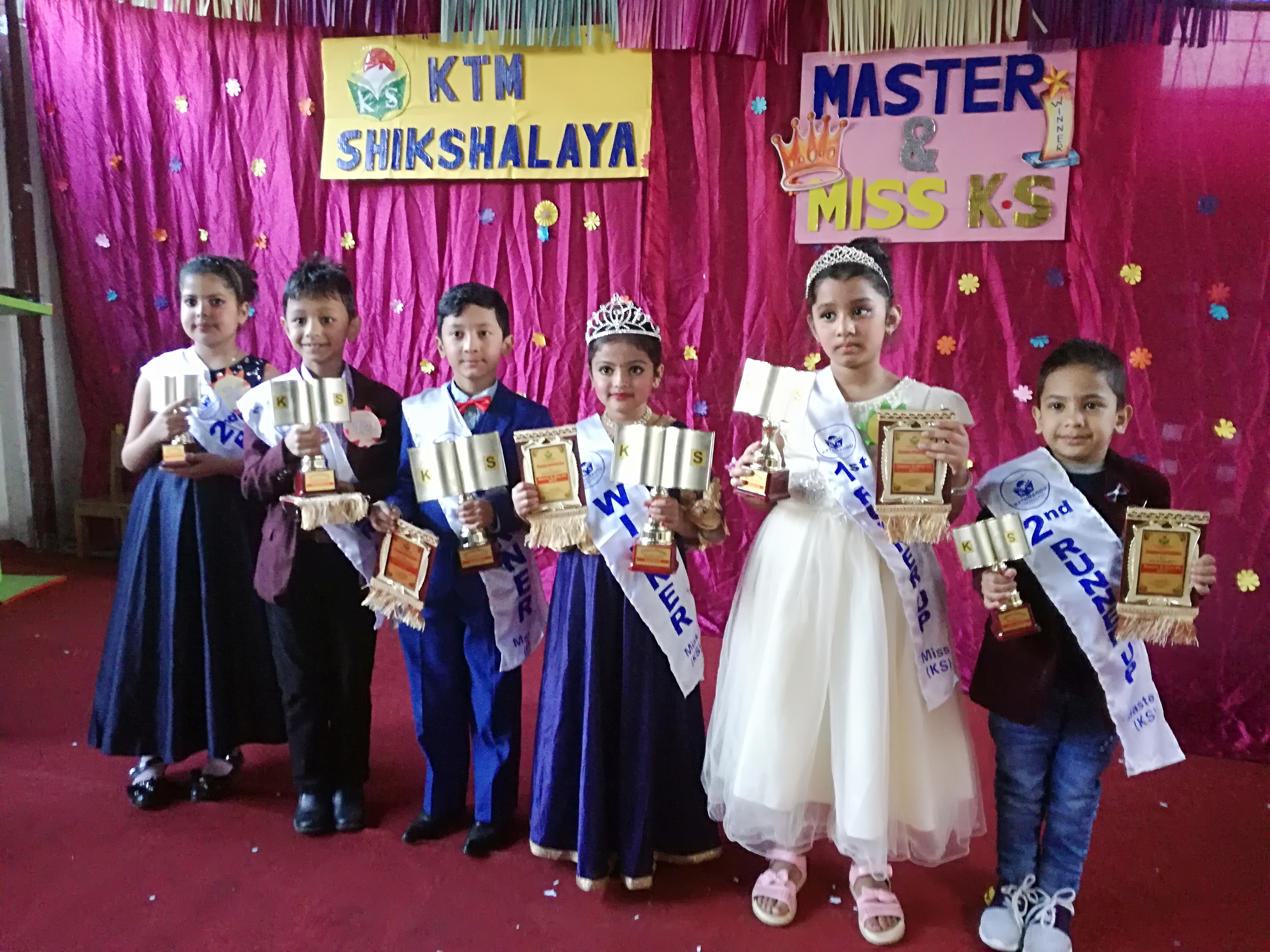 Winners of Master and Miss K.S.